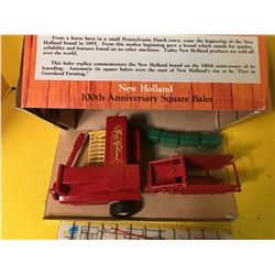 NEW HOLLAND BALER 1/16 IN BOX W/HISTORY - 100TH ANNIVERSARY