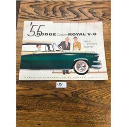 1955 DODGE ROYAL BROCHURE V8, 12 PAGES