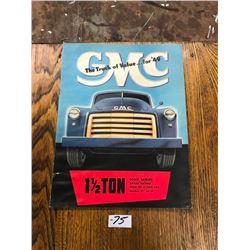 1949 GMC 1½ TON BROCHURE