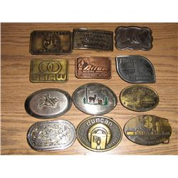 COLLECTION OF BELT BUCKLES