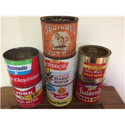 COLLECTION OF PEANUT BUTTER TINS (7)