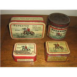 COLLECTION OF RCMP TINS (4)