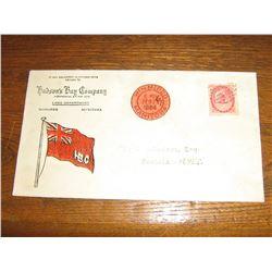 HBC LETTER PONTEIX N.W.T. 1884
