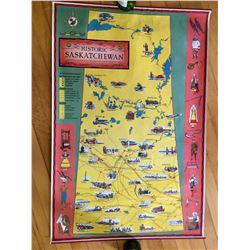 SASK GOLDEN JUBILEE MAP