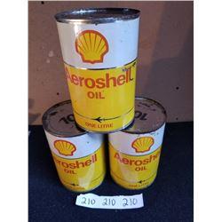 3 AEROSHELL OIL LITRES FULL