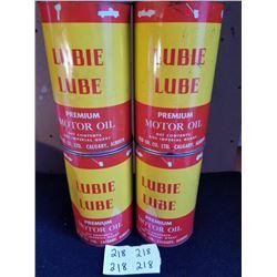 4 LUBIE LUBE S.A.E. MOTOR OIL QUARTS FULL - CALGARY