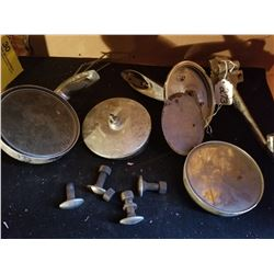 ASSORTED REARVIEW MIRROR PARTS & STUDS