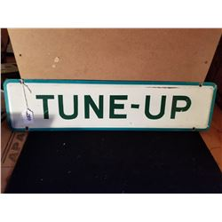 """ORIGINAL TUNE UP TIN SIGN FROM SERVICE STATION 24""""X6"""""""