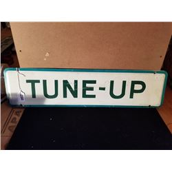 """ORGINAL TUNE UP TIN SIGN FROM SERVICE STATION 24""""X6"""""""