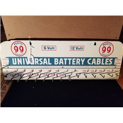 """PURITY 99 BATTERY CABLE RACK- EXCELLENT - SCARCE 24""""X8"""""""