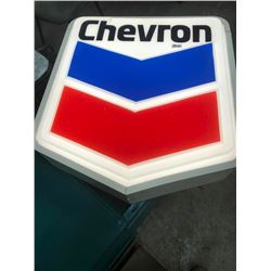 CHEVRON LIGHT UP SIGN, REWIRED READY TO HANG