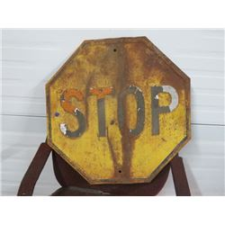 STOP SIGN YELLOW 24X24