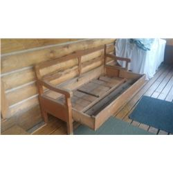 "HUTTERITE BENCH/BED 73""L 23"" D 35"" T"