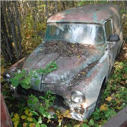 1955? DODGE PANEL TRUCK, MOSTLY COMPLETE