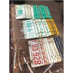 26 - 1960s LICENSE PLATES AND 2 1958 PLATES