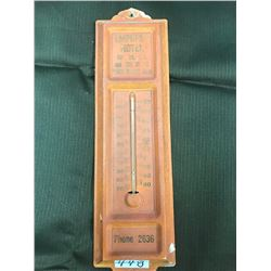 METAL THERMOMETER, EMPRESS HOTEL, PRINCE ALBERT, Sk