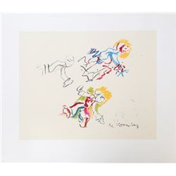 Willem de Kooning, Composition for Lisa, Lithograph
