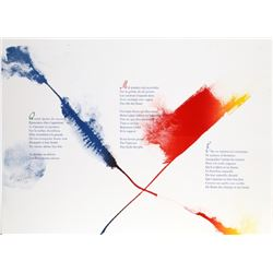 Paul Jenkins, Euphories de la Couleur 2, Illuminated LIthograph of Andre Verdet Poems