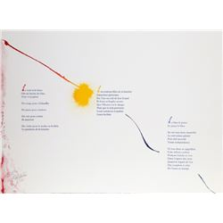 Paul Jenkins, Euphories de la Couleur 3, Illuminated LIthograph of Andre Verdet Poems