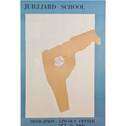Robert Motherwell, Juilliard School - Lincoln Center, Poster