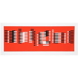 Josef Albers, Red Geometric Abstract from Formulation Articulation, Silkscreen