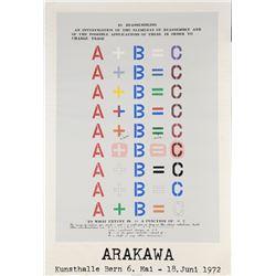 Shusaku Arakawa, 10 Reassembling, Serigraph Poster