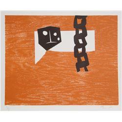 Charlie Hewitt, X, Woodblock Monoprint