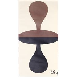 Claes Oldenburg, Double Punching Bag, Lithograph Poster