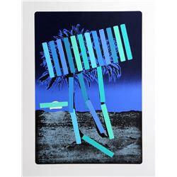 Menashe Kadishman, Blue Palm, Serigraph