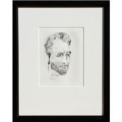 Salvador Dali, Van Gogh, Etching
