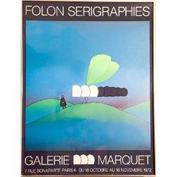 Jean-Michel Folon, Serigraphies - Galerie Marquet, Poster