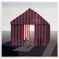 Ali Golkar, Circus Tent, Lithograph