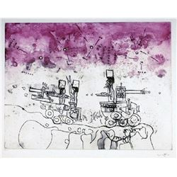 Roberto Matta, Tomorrow, the World from Judgments, Aquatint Etching