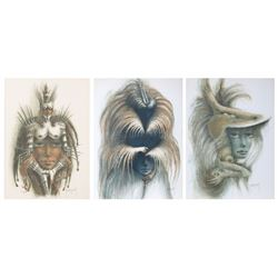 Francis de Lassus Saint-Geniet, Lot of 3 Surrealist Fashion Lithographs
