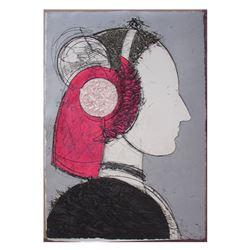 Manolo Valdes, Perfil V, Print ono Handmade Paper