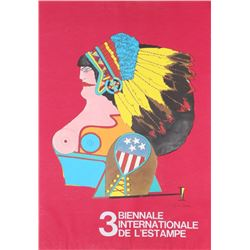 Richard Lindner, 3 Biennale Internationale D'Estampe, Silkscreen Poster