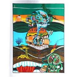 Helmut Kand,  Vienna Daydreams, Portfolio of 5 Serigraphs on Foil