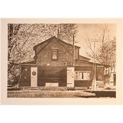 John Baeder, House with Trailer, Etching