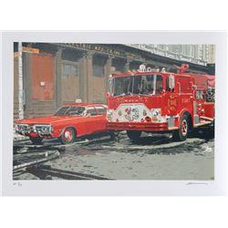 Ron Kleemann, Fire Engine (FDNY), Silkscreen