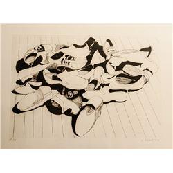Lowell Blair Nesbitt, Set of 3 Shoes Series Etchings