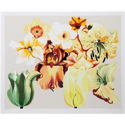 Lowell Blair Nesbitt, Island of Yellow Flowers, Serigraph