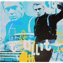 Dganit Blechner, Steve McQueen - Bullit, Screenprint on Canvas