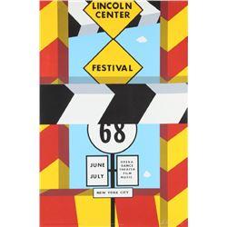 Allan D'Arcangelo, Lincoln Center Festival, Silkscreen Poster