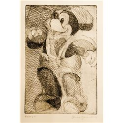 Bernard Greenwald, Mickey Mouse II, Etching