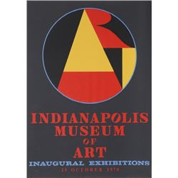 Robert Indiana, Indianapolis Museum of Art, Silkscreen Poster