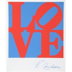 Robert Indiana, Love (Blue and Red), Silkscreen