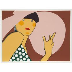 Kiki Kogelnik, Lady with Hat, Serigraph