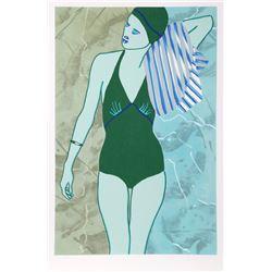 Kiki Kogelnik, Bathing in Green, Serigraph