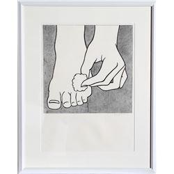 Roy Lichtenstein, Foot Medication (C. App. 3), Offset Lithograph