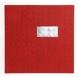 Matteo Negri, Lego (Red), Aquatint Etching with Silver Leaf